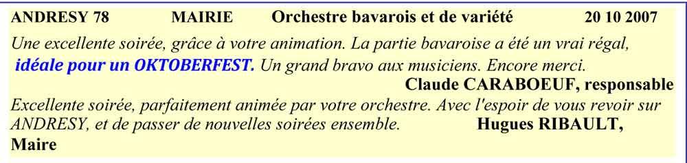 Orchestre bavarois et de variété, Andresy