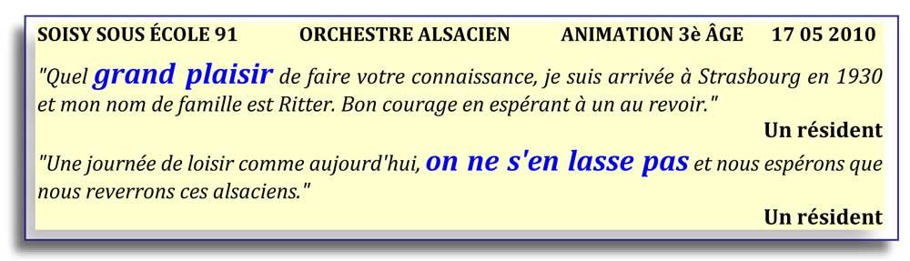 Soisy sur École - 91-2010-orchestre alsacien