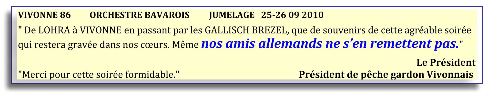 Vivonne 86 - orchestre bavarois - jumelage 25-26 09 2010