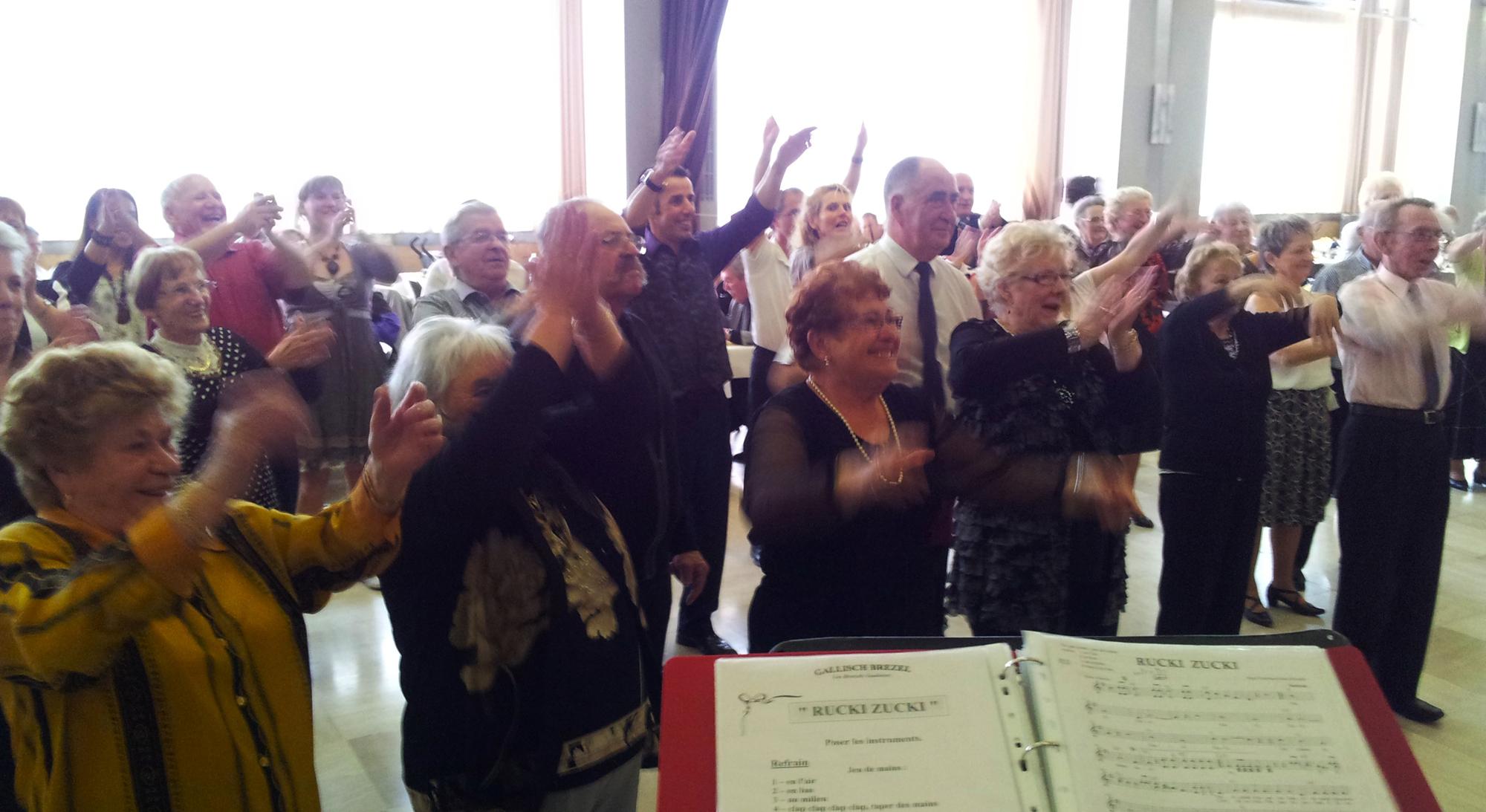 2b- Animation avec l'orchestre bavarois Gallish Brezel, Sochaux 15 avril 2012