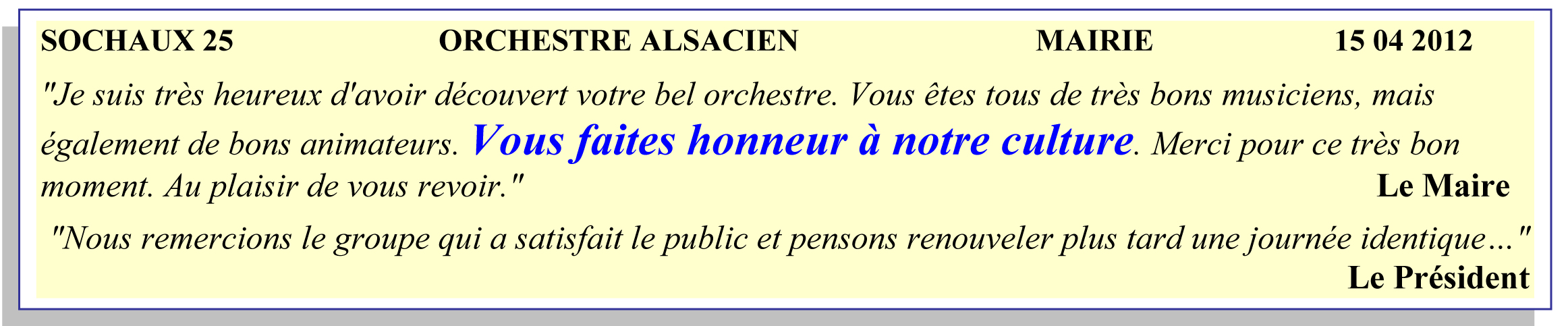 Sochaux - orchestre alsacien