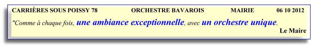 Carrières sous Poissy 78-2012-orchestre bavarois