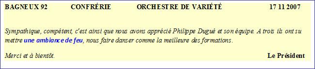 Bagneux 92-2007-orchestre de variété