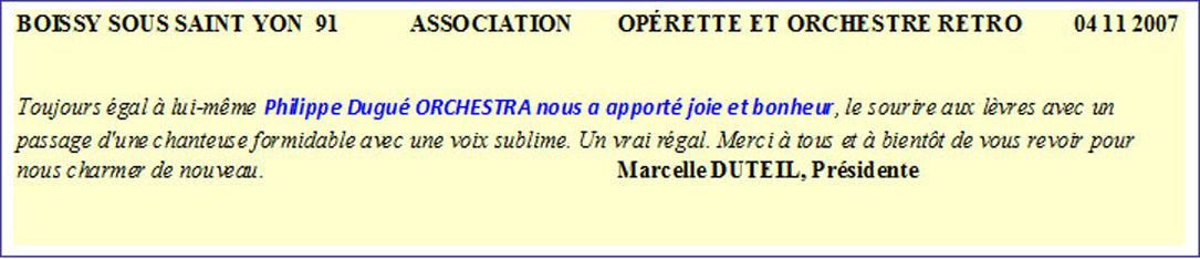 Boissy sous St Yon 91 (2007)-orchestre de variété