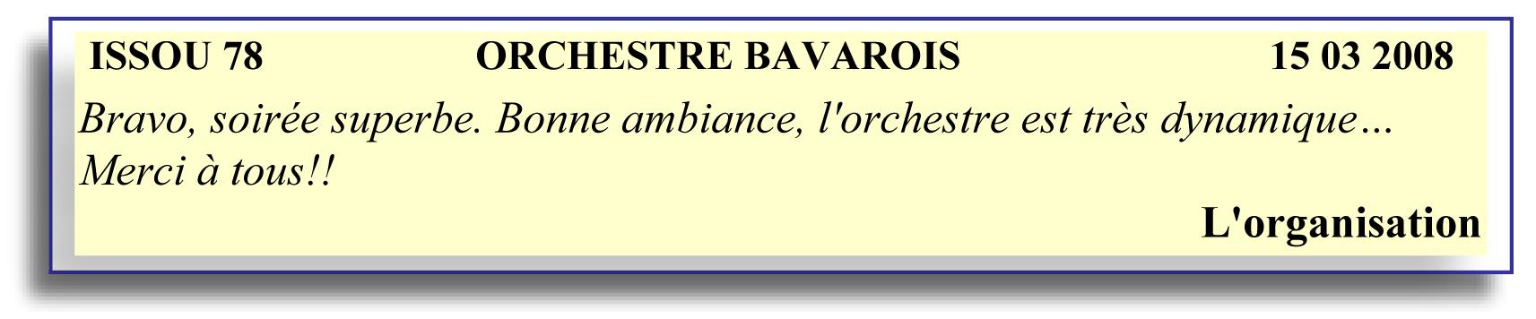 Issou 78 (2008)-orchestre bavarois
