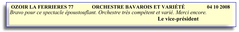 Ozoir la Ferrières 77-2008-orchestre bavarois-orchestre de variété