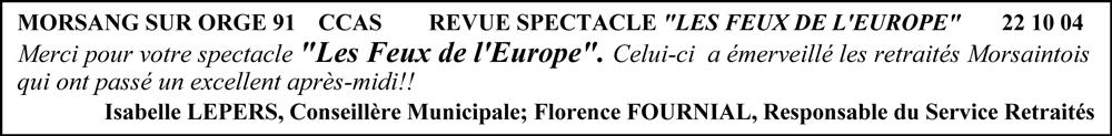 Morsang sur Orge 91-2004-spectacle folklorique