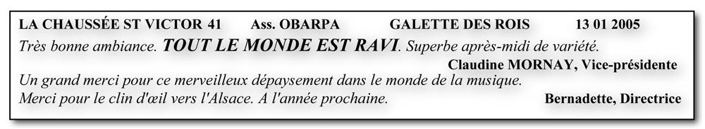 La Chaussée St Victor 41-2005-la galette des rois-orchestre bavarois