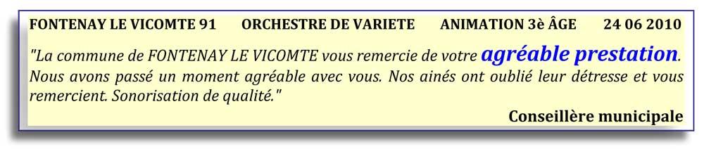 Fontenay le Vicomte 91 (2010)-orchestre de variété