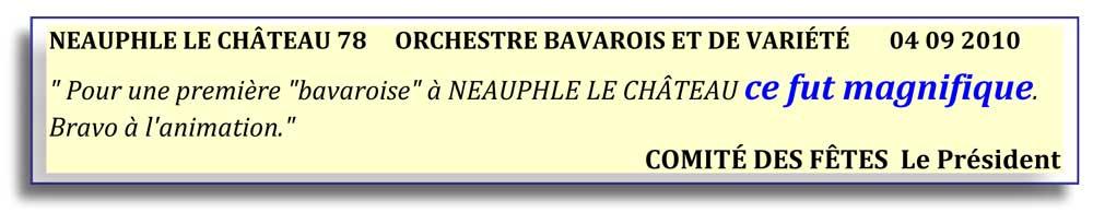 Neauphle le Château 78-2010-orchestre bavarois-orchestre de variété