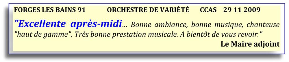 Forges les Bains 91-2009-orchestre de variété