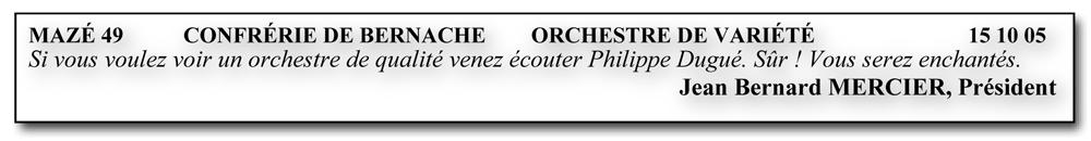 Mazé 49 (2005)-orchestre de variété
