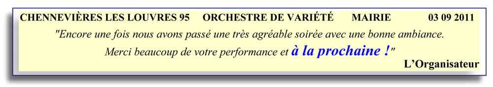 Chennevières les Louvres 95 (2011)-orchestre de variété