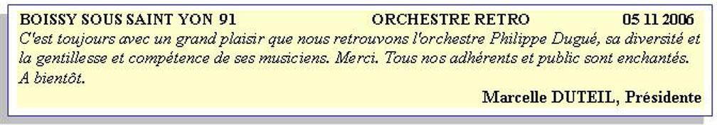 Boissy sous St Yon 91 (2006)-orchestre bavarois