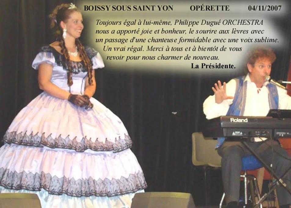 Boissy sous St Yon 91 (2007)-orchestre de variété 1