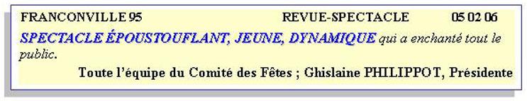 Revue-spectacle franconville