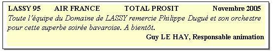 Lassy 95 (2005) .2-soirée bavaroise