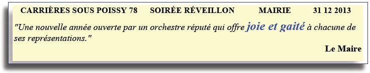 Carrières Sous Poissy - 78 - 2013 - soirée réveillon -orchestre bavarois