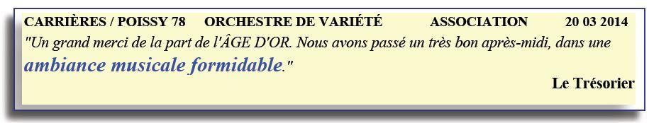 Carrières Sous Poissy – 78 -2014- orchestre de variété
