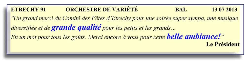Etrechy 91 2013- orchestre de variété