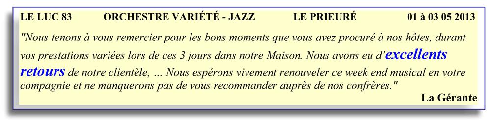 Le Luc 83 - 2013- orchestre de variété