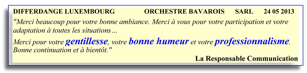 Differdange Luxembourg 2013- orchestre bavarois