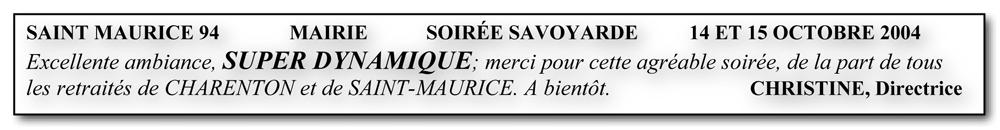 Saint Maurice 94 - 2004-soirée savoyarde-soirée bavaroise