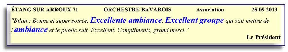 Etang sur Arroux 71 - 2013-orchestre bavarois
