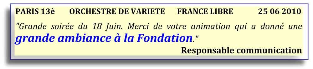 Paris 13 - 2010 - orchestre de variété