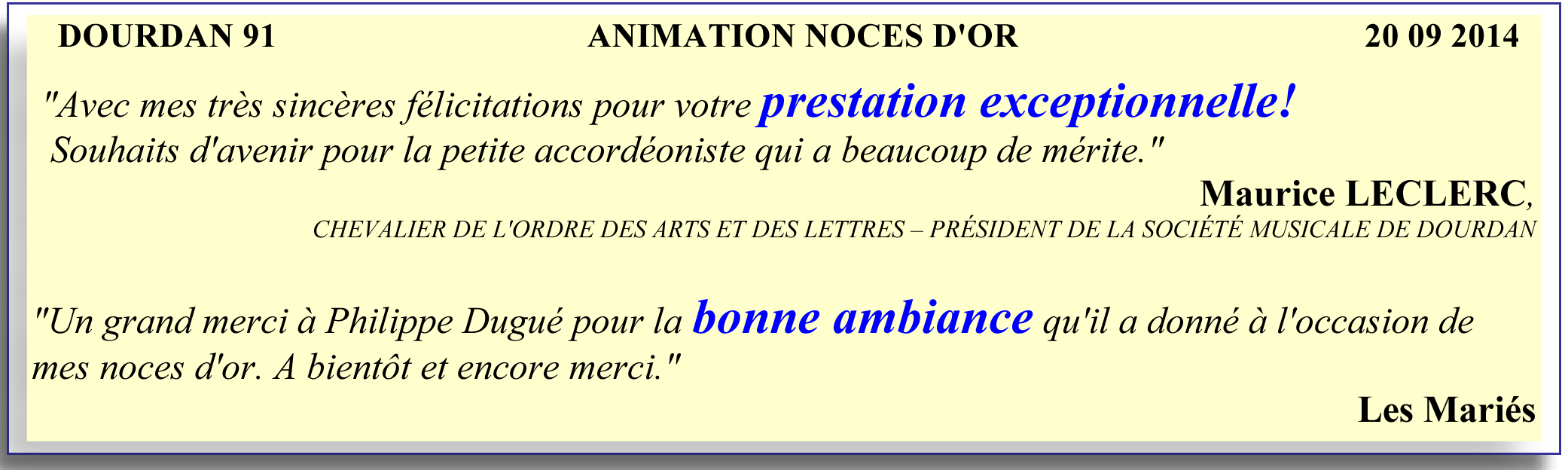 dourdan 91-2014-animation noces d'or-orchestre bavarois