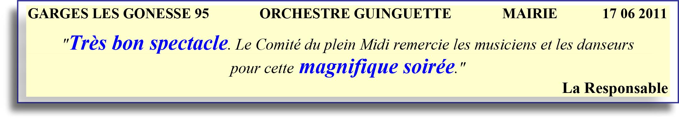 GARGES LES GONESSE 95   ORCHESTRE GUINGUETTE   17 06 2011