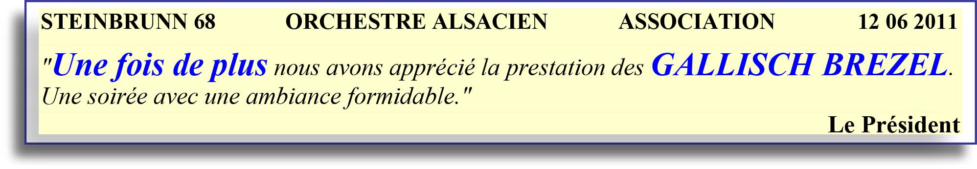 STEINBRUNN 68  ORCHESTRE ALSACIEN  12 06 2011